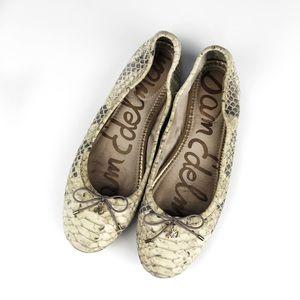 Sam Edelman Felicia Snake Round Toe Ballet Flats